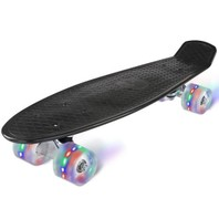2404 Led Skateboard zwart