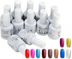 9001107A Soak off base + uv gel nagellak 12 potjes gellak gellac 15ml