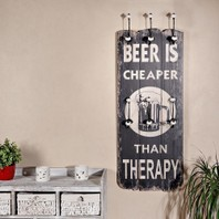 00034B Beer cheaper than therapy kapstok