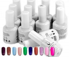 9001107C Soak off base + uv gel nagellak 12 potjes gellak gellac 15ml