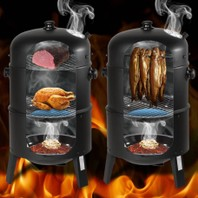 00000657 3 in1 BBQ charcoal gill barbecue smoker rokersgrill bbq *PROMO*