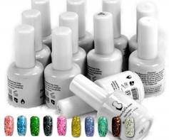 9001107B Soak off base + uv gel nagellak 12 potjes gellak gellac 15ml