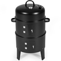 0657 3 in1 BBQ charcoal gill barbecue smoker rokersgrill bbq