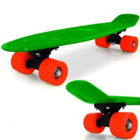 0842 Skateboard retro groen
