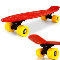 0841 Skateboard retro rood