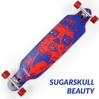 0003811D Skateboard longboard Sugarskull Beauty