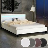 001119D  Bed wit 140x200 met ledverlichting PROMO